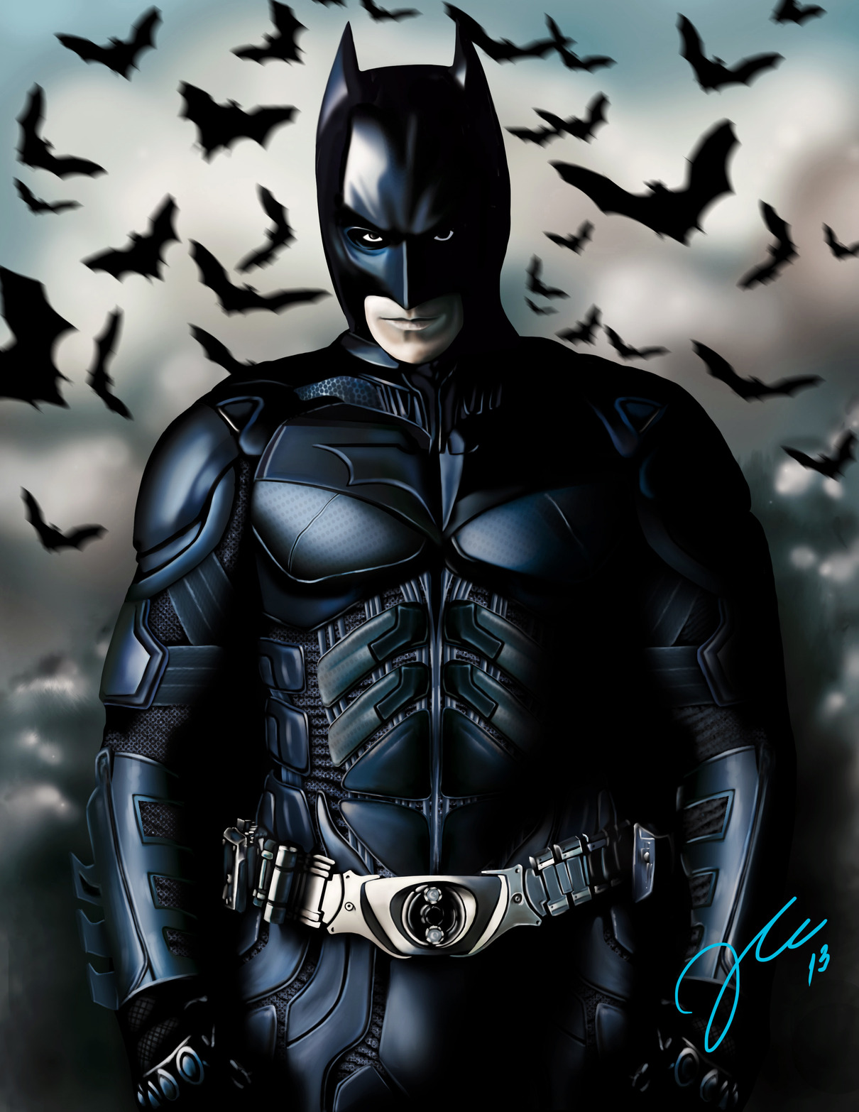 DIgital Painting Batman Paso A Paso