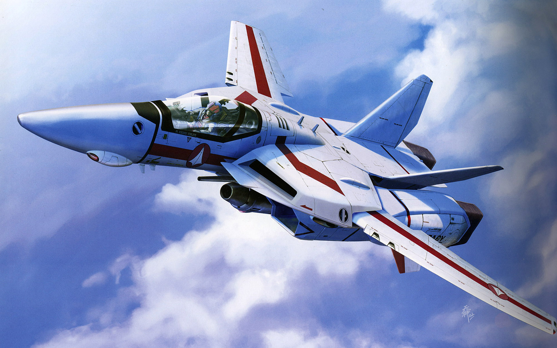 vf - 1 valkyrie wallpaper cg hd (macross/robotech)