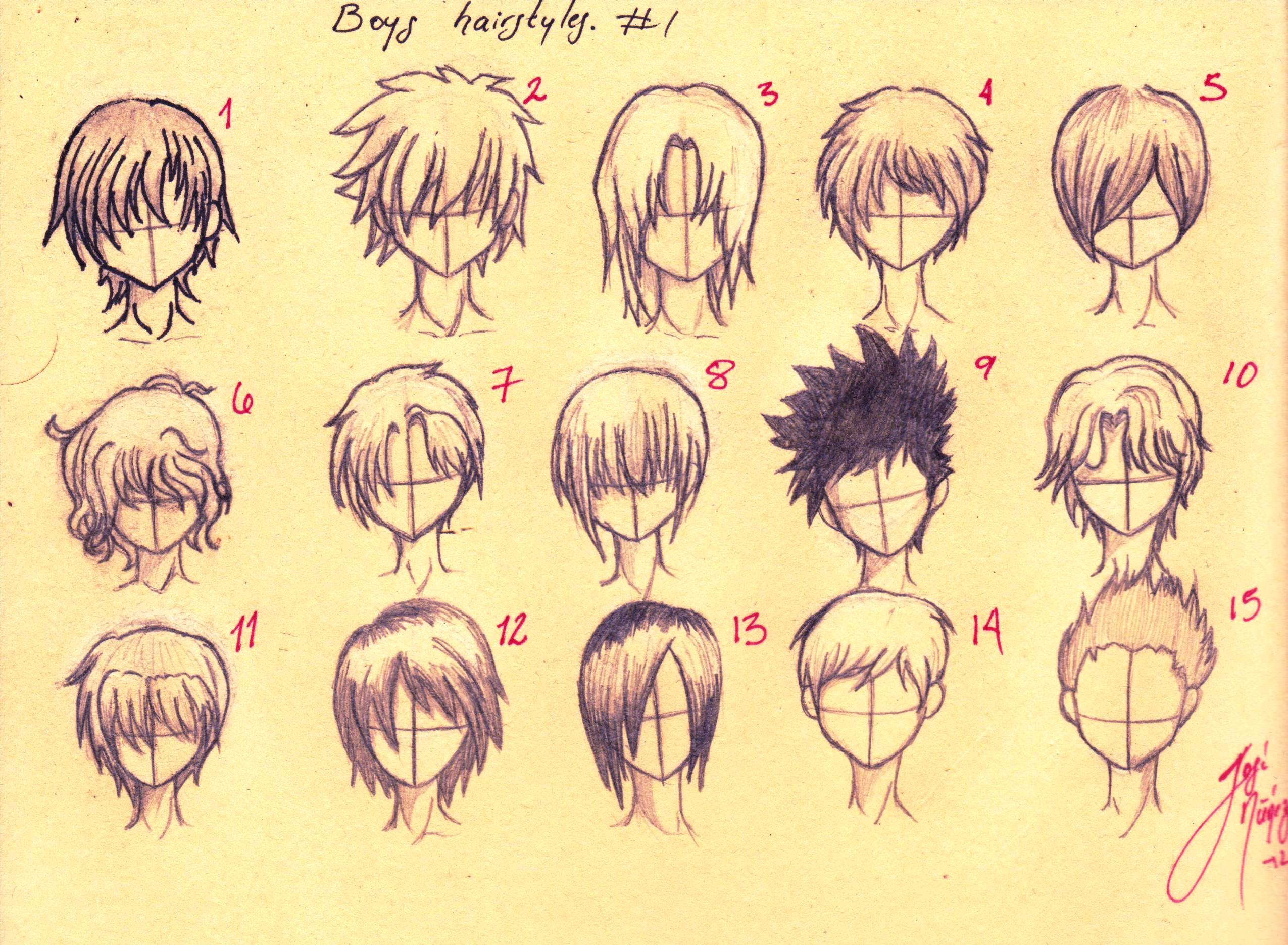 Anime Cool Boy Hairstyles