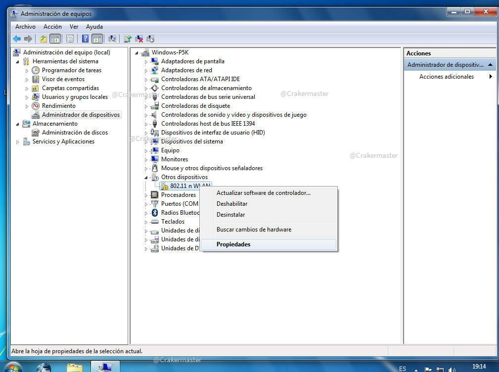Buscar drivers para Windows manualmente.