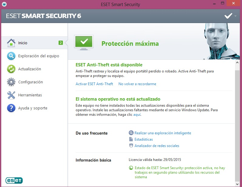 Encontrar Claves para Eset Smart Security