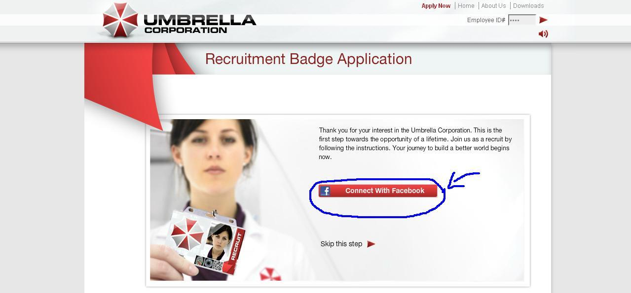 como crear tu propia insignia de Umbrella Corporation