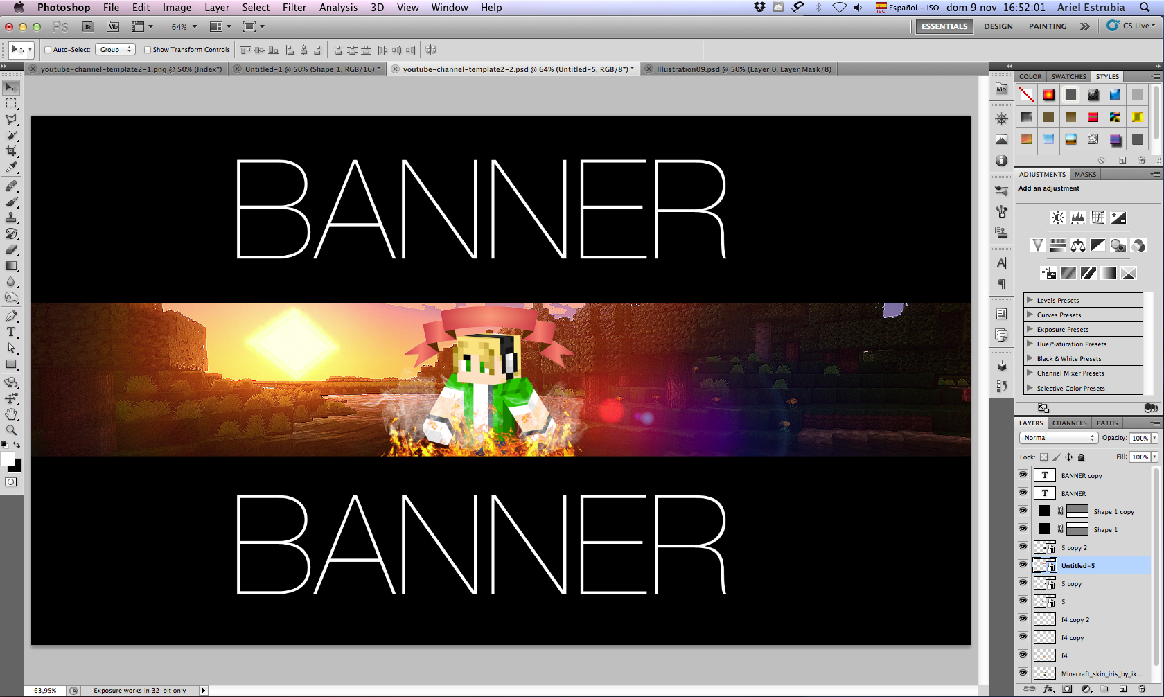[Photoshop] Banner para Youtube