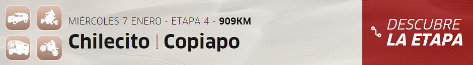 Dakar 2015 - Etapa 4 (Chilecito-Copiapó)